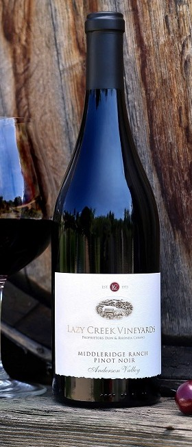 Lazy Creek Vineyards Middleridge Ranch Pinot Noir Bottle