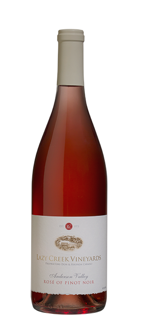 Lazy Creek Vineyards Rosé of Pinot Noir Bottle